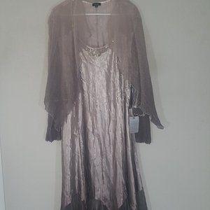 Komarov 2 piece Charmeuse dress with Jacket NWT